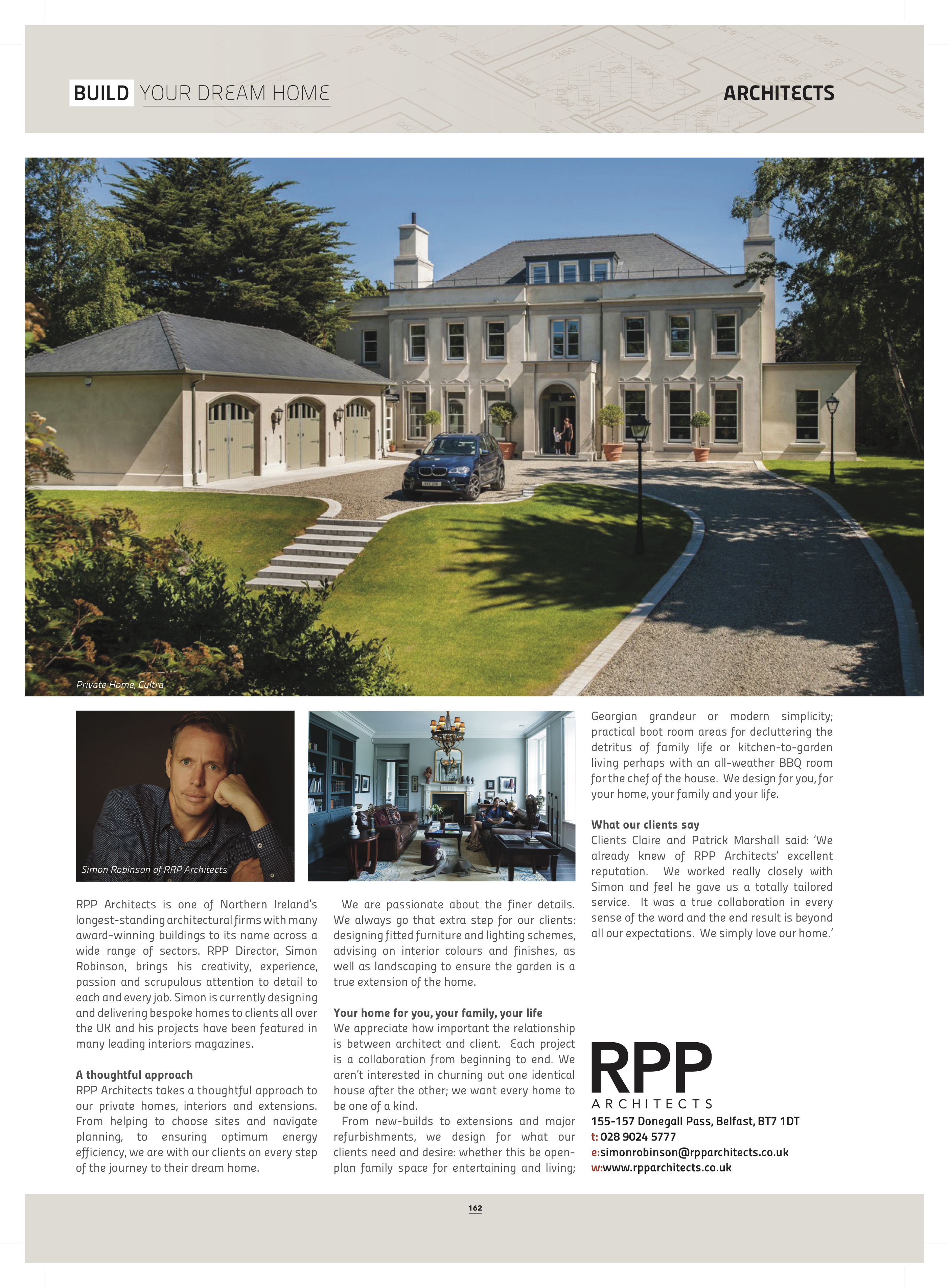 RPP Architects feature in this month s Build your dream Home in